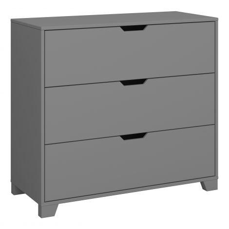 Dressor LOKE 015 - Dresser with 3 drawers - GREY