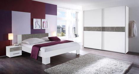 Schlafzimmerset Mavic 160x200 - weiß/betont