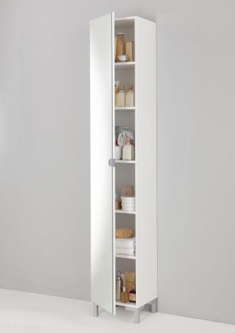Säulenschrank Tarragona mit Spiegel - weiß