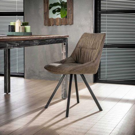 Stuhl falten vier Fuß - Set von 4 - Wax PU Taupe