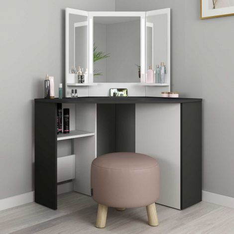 1746 Vanity Table Chic Grey Shade/ White