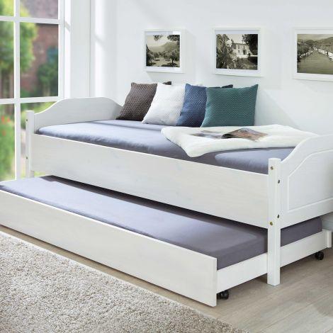 Bettkasten 200cm für Betten Interlink - weiß