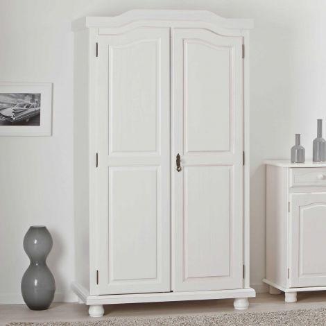 Kleiderschrank Bastian mit 2 Türen - weiß