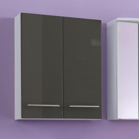 Hängeschrank Small 50cm 2 Türen - hochglanz-grau