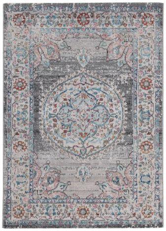 Teppich Maggio Medaillon 180x60 Silber