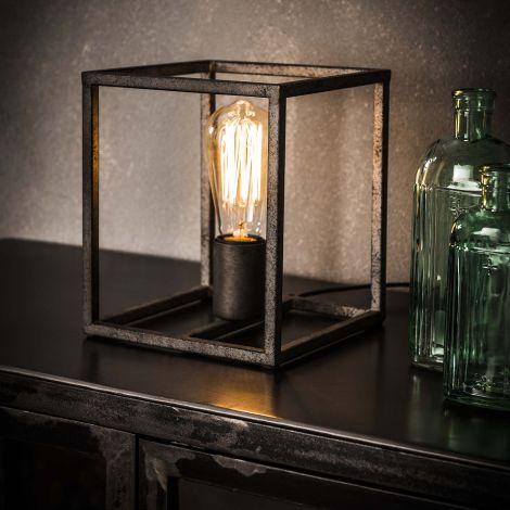 Tischlampe cubic - Alt Silber Finish