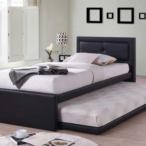 Einzelbett Rodan - schwarz