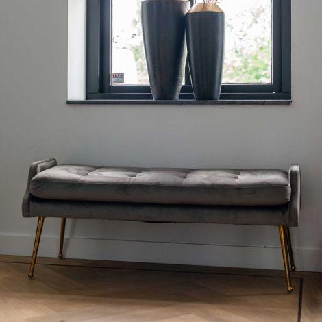 Sofa Rebel 121,5cm Samt - grau