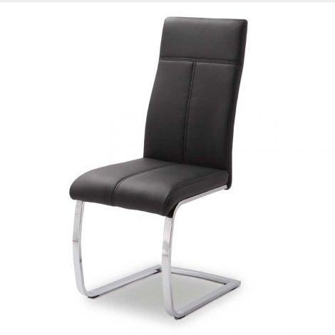 Set mit 2 Stühlen Elio - schwarz