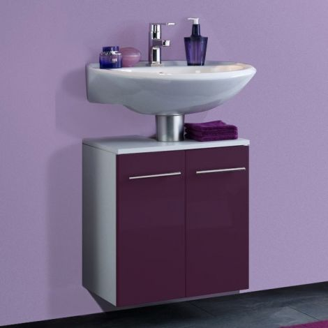 Waschtischunterschrank Small 50cm - hochglänzend lila