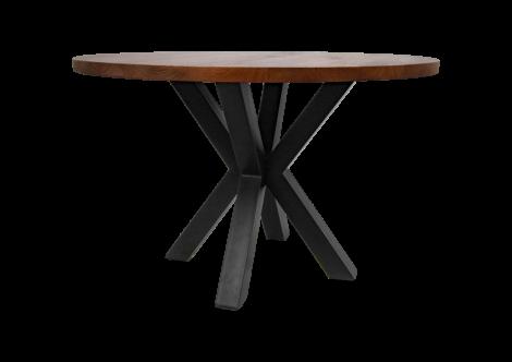 Runder Esstisch Oakland 120 cm - Mango-Holz/Eisen