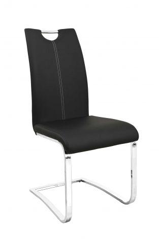 Set mit 2 Stühlen Sofia - schwarz