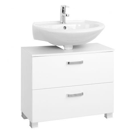 Waschbeckenschrank Bobbi 70cm 1 Tür und 1 Softclose-Schublade - weiß