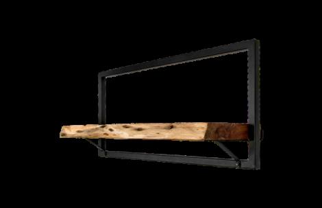 Wandregal Ebenen Live Edge - 70x32 cm - Akazie / Eisen