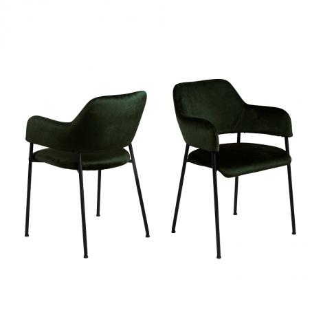 Satz von 2 Stühlen Lilou - grün