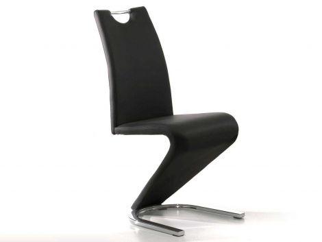 Set mit 2 Stühlen Lineo - schwarz