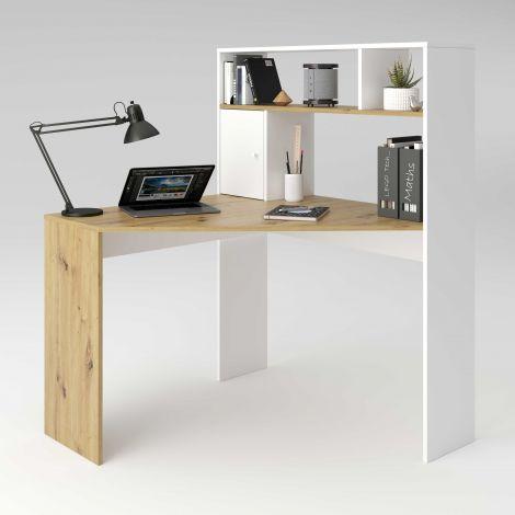 Schreibtisch Conor - Eiche alt/mattweiß