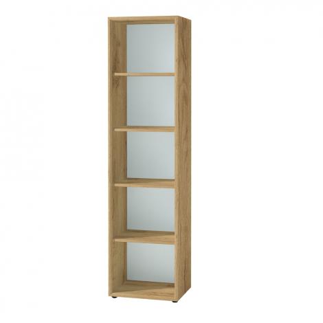 Bücherregal Mouna 50cm - Eiche/Weiß