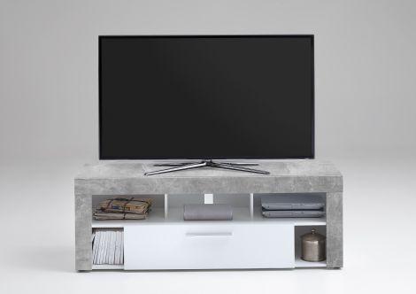 TV-Möbel Vidi 150 cm - Beton/Weiß