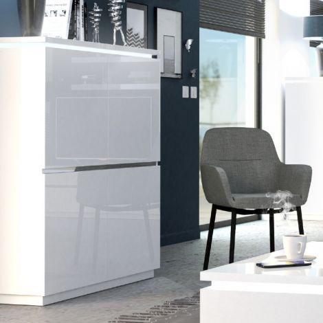 Buffetschrank Elif 110cm mit 4 Türen - hochglanz-weiß