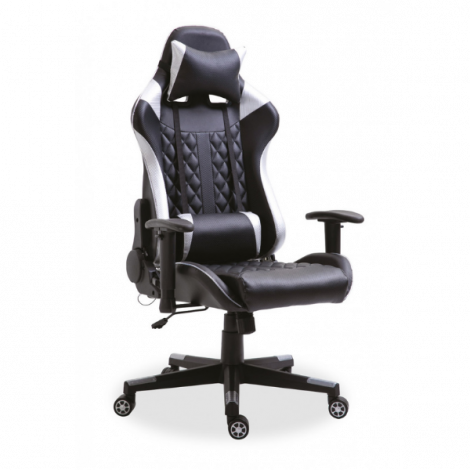 Gaming-Stuhl Robin mit LED - silber/schwarz