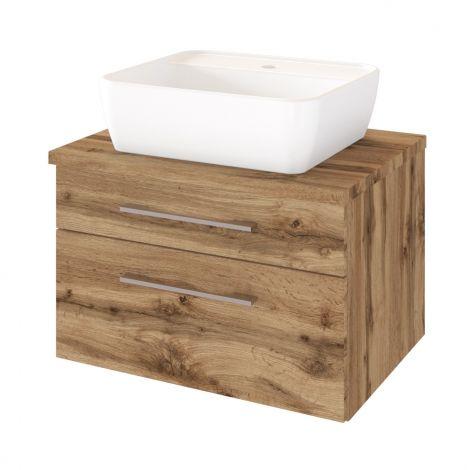 Waschtischunterschrank Dasa 60cm 2 Schubladen - wotan eiche