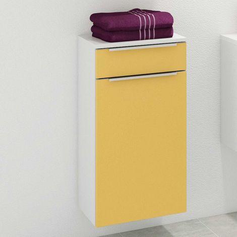 Badezimmerschrank Hansen 40cm 1 Tür und 1 Schublade - gelb/weiß