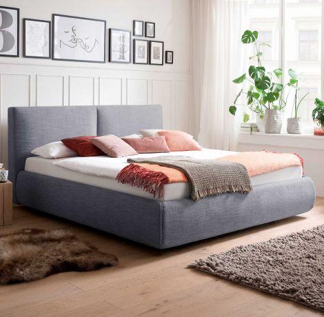 Bett mit Stauraum Celine 180x200 - blau (inkl. Lucca Matratze H2 H3)