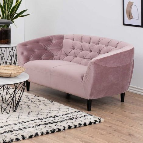 2-Sitzer Sofa Isiah 150cm - rosa