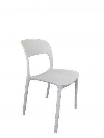 Satz mit 4 Stühlen Carla - weiß