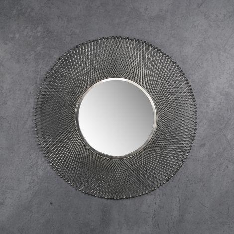 Spiegel Ø80 mesh - Antike Nickel