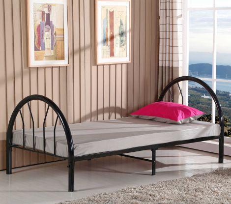 Einzelbett Cami - schwarz