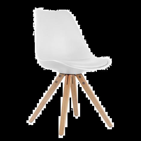 Satz von 2 Stühlen Lady - weiß