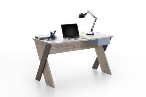 Nano 135 cm Schreibtisch mit X-Füßen
