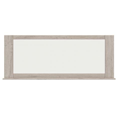 BOSTON - Miroir tablette Chêne gris clair