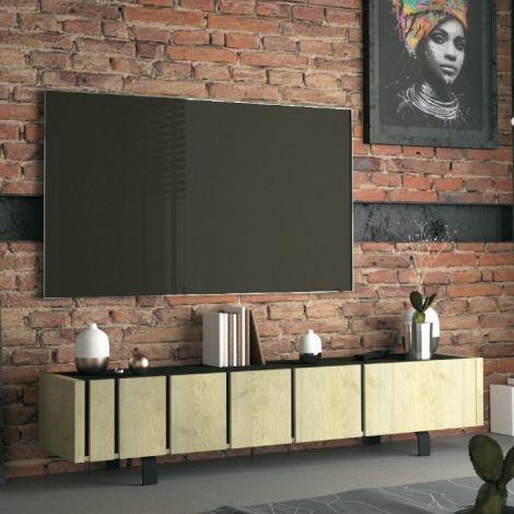 TV-Möbel Rufus 190cm 3 Türen - Eiche