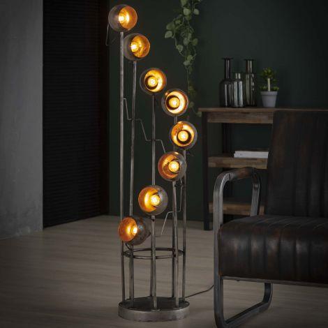 Stehlampe 8L - Alt Silber Finish