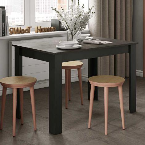 Esstisch Nizza 110 cm - Schwarz/Beton
