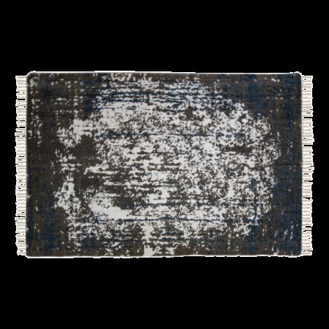 Teppich Vinta 300x200 Baumwolle teal/beige