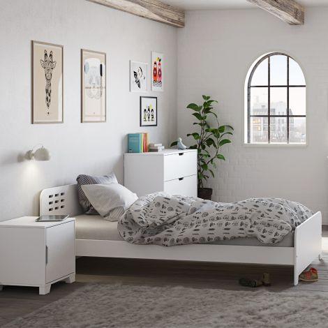 Einzelbett Loki 90x200 - weiß