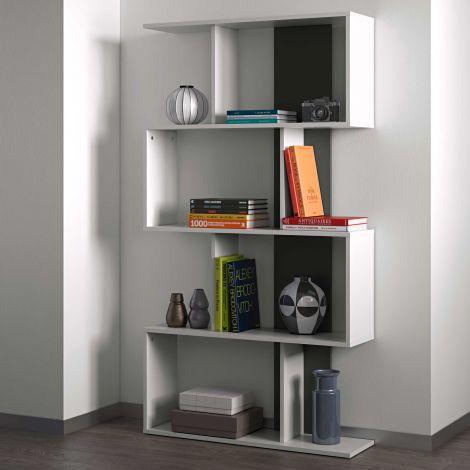 Bücherregal Sigma - weiß/schwarz