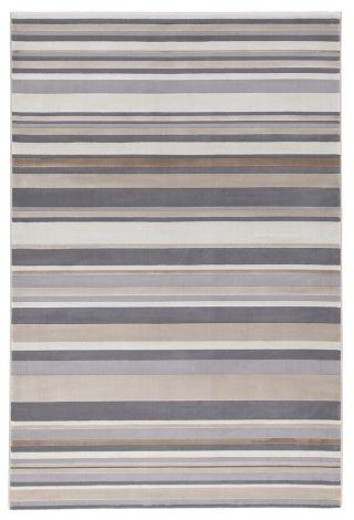 Teppich Geometrie 190x133 Streifen - Grau