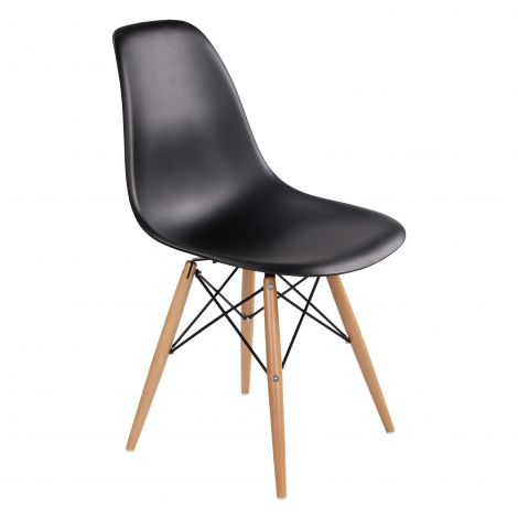 Satz von 4 Stühlen Paulette - schwarz