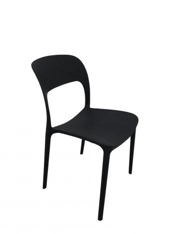 Satz mit 4 Stühlen Carla - schwarz