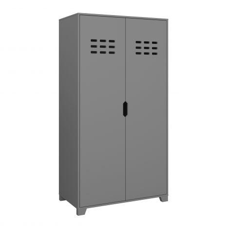 Wardrobe LOKE 101 - Wardrobe with 2 doors - GREY