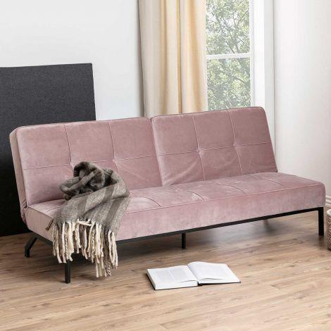 Perugia sofa bed - black, dusty rose