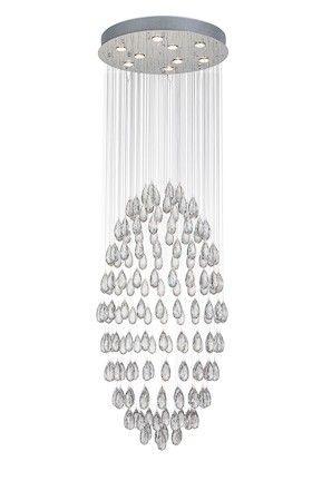 Hängelampe Drop Ø60cm - Chrom - 9x50w GU10
