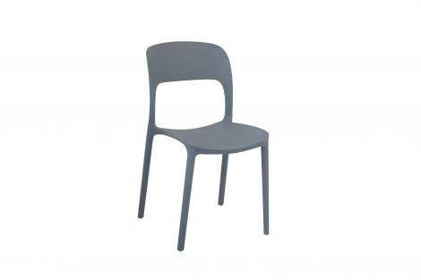 Satz mit 4 Stühlen Carla - grau