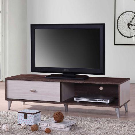 Fernsehschrank Rumbo 120cm - braun/weiß
