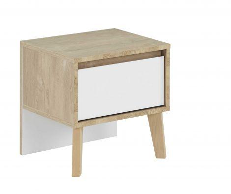 Nachttisch Lina 1 Schublade - weiß